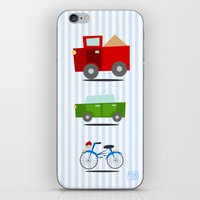 cars iPhone & iPod Skins featuring Cars by Alapapaju