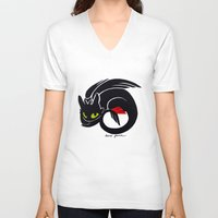 toothless V-neck T-shirts featuring Toothless by Annie Pollock