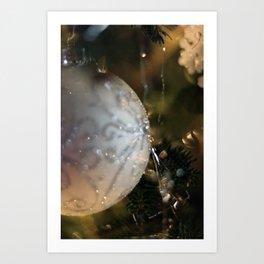 Silver Holiday Ornament Art Print