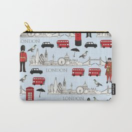 London Skyline and Icons Carry-All Pouch