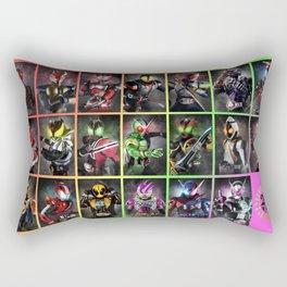 Kamen Rider Heisei Era Main Riders 20th Anniversary Rectangular Pillow