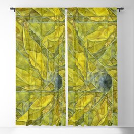 Abstract Yellow-Gold Sundrops Blackout Curtain
