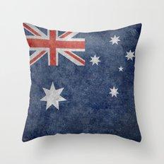 The National flag of Australia, Vintage version Throw Pillow