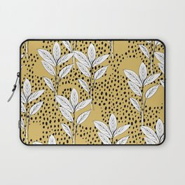 Summer leaves fall is coming garden and raindrops ochre yellow Laptop Sleeve