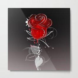 Dark red rose Metal Print