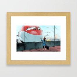 Curious Encounter Framed Art Print