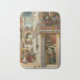 The Annunciation, with Saint Emidius Bath Mat