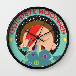 Goodbye Moonmen Wall Clock