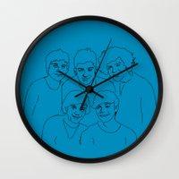 1d Wall Clocks featuring 1D by Rebecca Bear