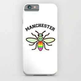 Manchester bee LGBT rainbow colours  iPhone Case