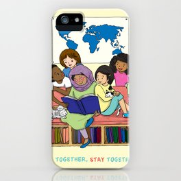 Read Together Stay Together iPhone Case