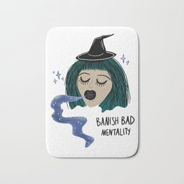 Banish Bad Mentality Witch Bath Mat