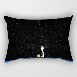 calvin hobbes watch moon Rectangular Pillow