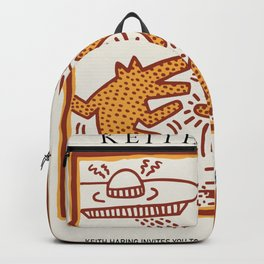 Fear of unknown -Keith Art, Exhibition Poster, Japan Vintage Print Backpack