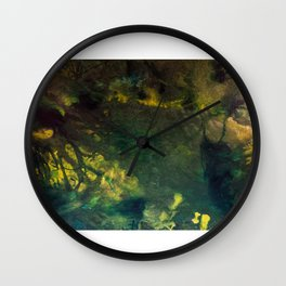 In the deep forest green Wall Clock