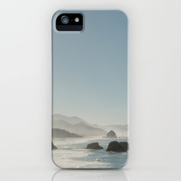 Hazy Morning at Cannon Beach, Oregon - Fine Art Film Travel Photography iPhone Case