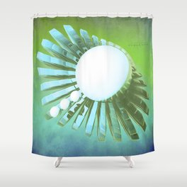 rowan winter Shower Curtain