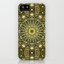 Geometric Forest Mandala iPhone Case