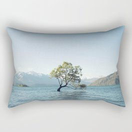 That tree in the middle of the lake Rectangular Pillow