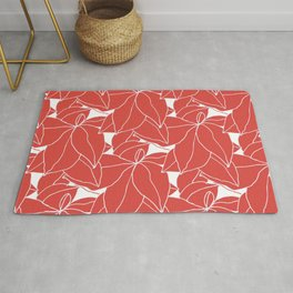 Floral in Red Rug