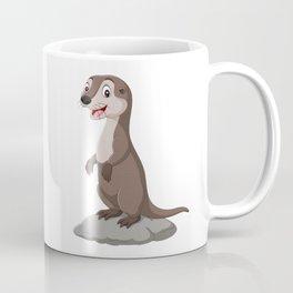 Otter Standing on the Rock Coffee Mug