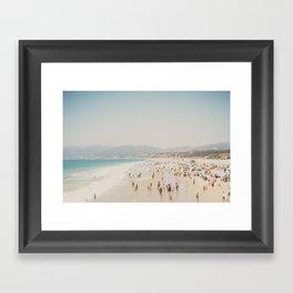 summer time in Santa Monica ... Framed Art Print
