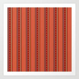 Andean Design Vibrant Colors Art Print