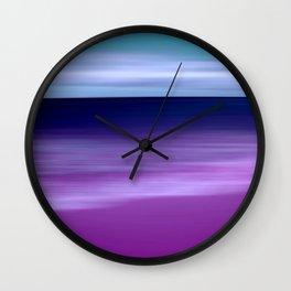 purple beach XI Wall Clock