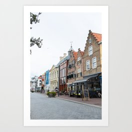 City Center Vlissingen - Old houses Art Print