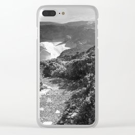 Path along cliffs of Cape Point, South Africa Clear iPhone Case