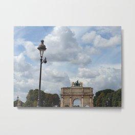 Arc du Carrousel Under the Sky Metal Print