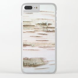 Birch bark Clear iPhone Case