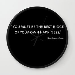 Emma By Jane Austen Quote I Wall Clock