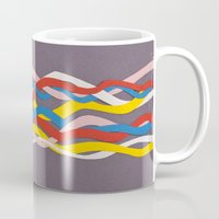 collage Mugs featuring wave by Canson City