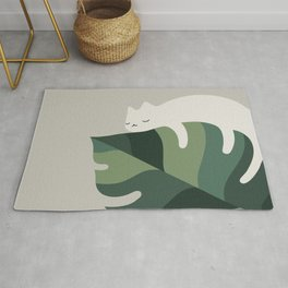 Cat and Plant 10 Rug