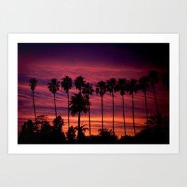 Sunset over Hollywood Art Print