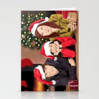 allison argent Stationery Cards featuring Merry Christmas - Argent Family by Finduilas