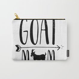 Goat Mom for Pet Owner or Farmer Black Hoodie Sweatshirt Carry-All Pouch