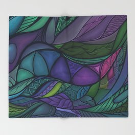 Flow of Time Throw Blanket