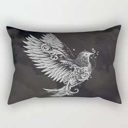 White Dove Rectangular Pillow