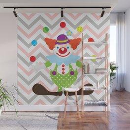 Clown with balls - Circus Wall Mural