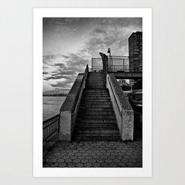 NYC Steps Art Print
