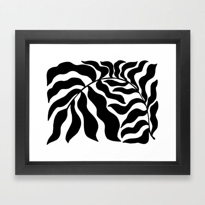 Reach   Black & White Framed Art Print
