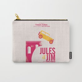Jules et Jim, François Truffaut, minimal movie Poster, Jeanne Moreau, french film, nouvelle vague Carry-All Pouch