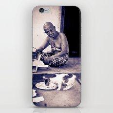 Wat man and his cat iPhone Skin