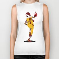 french fries Biker Tanks featuring McDonald's Burn French Fries by pexkung