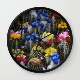 Colorful cactus Wall Clock