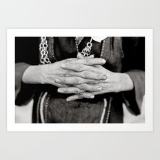 Working Hands Art Print