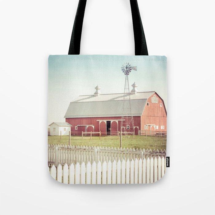 Farm Life ~ Red Barn Tote Bag