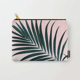 Modern tropical palm tree photography pastel pink ombre gradient Carry-All Pouch